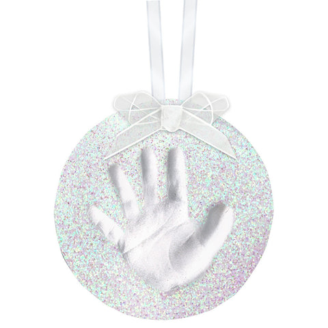 pearhead's babyprints glitter ornament