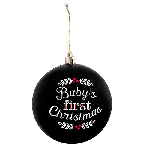 baby's 1st Christmas ball ornament