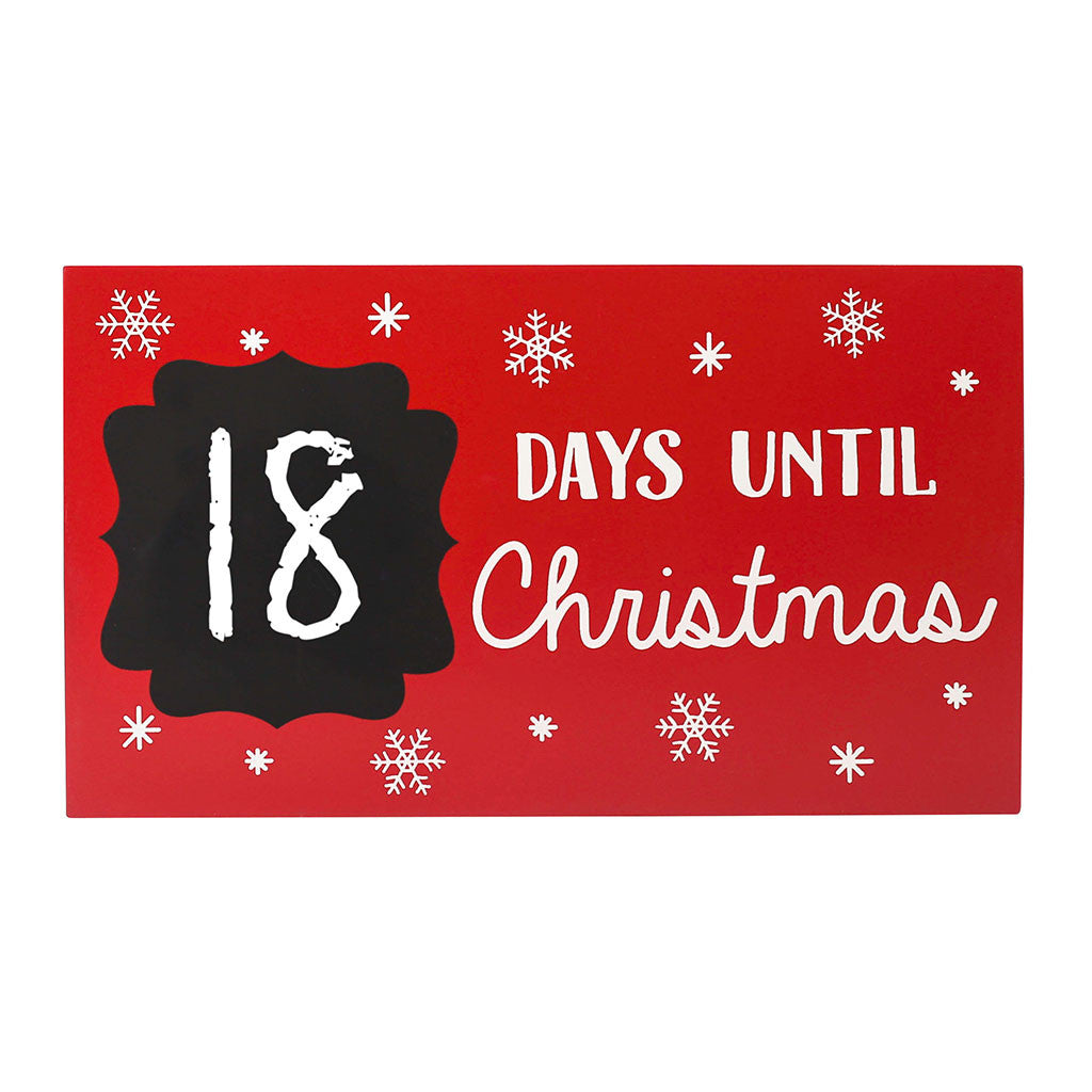 pearhead's countdown to Christmas chalkboard plaque