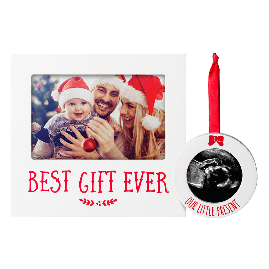 Pearhead's best gift ever frame and ornament set