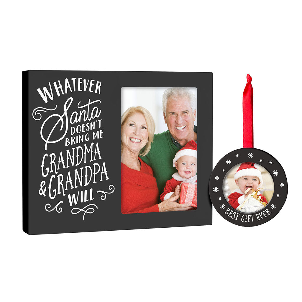 Pearhead's grandparent frame and ornament set