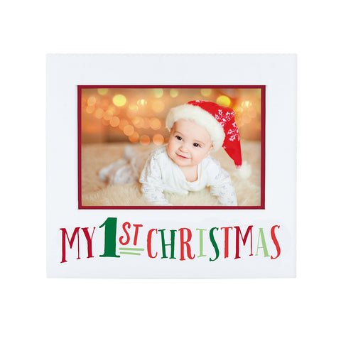 pearhead's baby's 1st Christmas frame