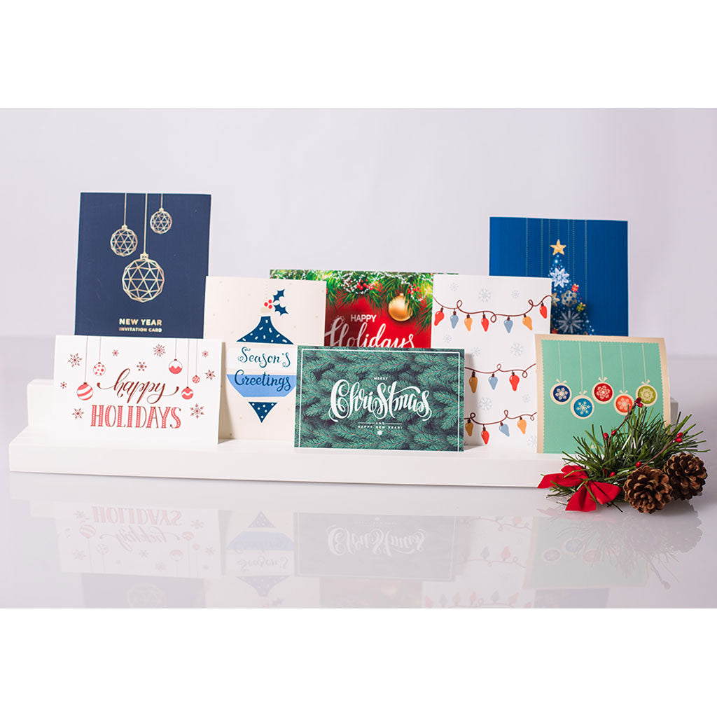 Pearhead's holiday photo & card holder set