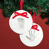 Pearhead's double babyprints ornament