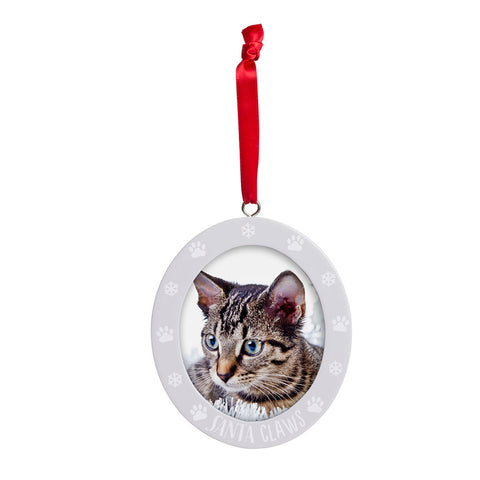 Pearhead's santa claws photo ornament