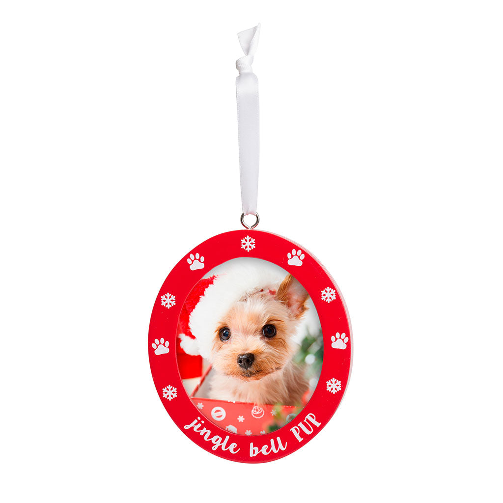 Pearhead's jingle bell pup ornament