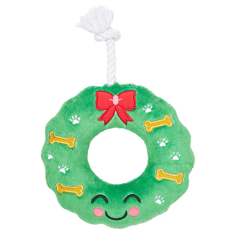 Pearhead's howliday wreath dog toy