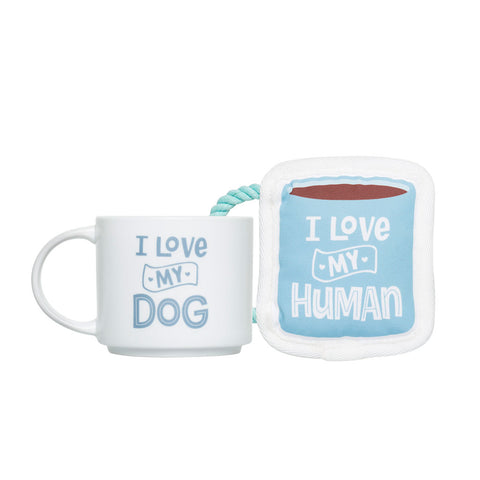Pearhead's my and my pet drinking mug set