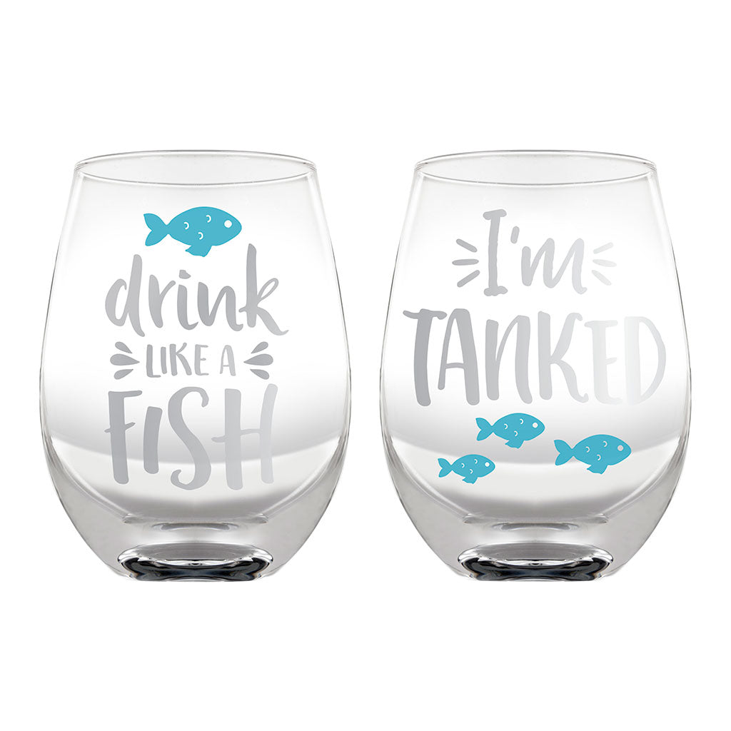 Pearhead's pet lover's glass set