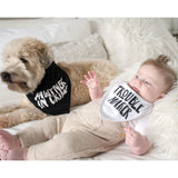Pearhead's baby and pet bib set
