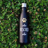 "Pearhead's ""who rescued who"" pet water bottle"