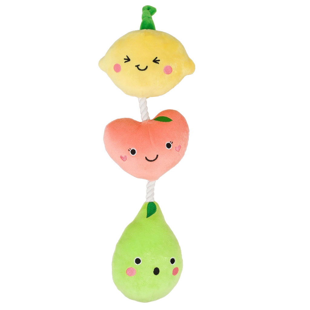 Pearhead's fruit dog toy
