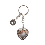 Pearhead's heart keychain with paw charm