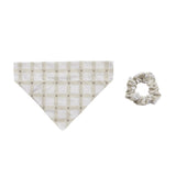 Pearhead's gingham bandana scrunchie set