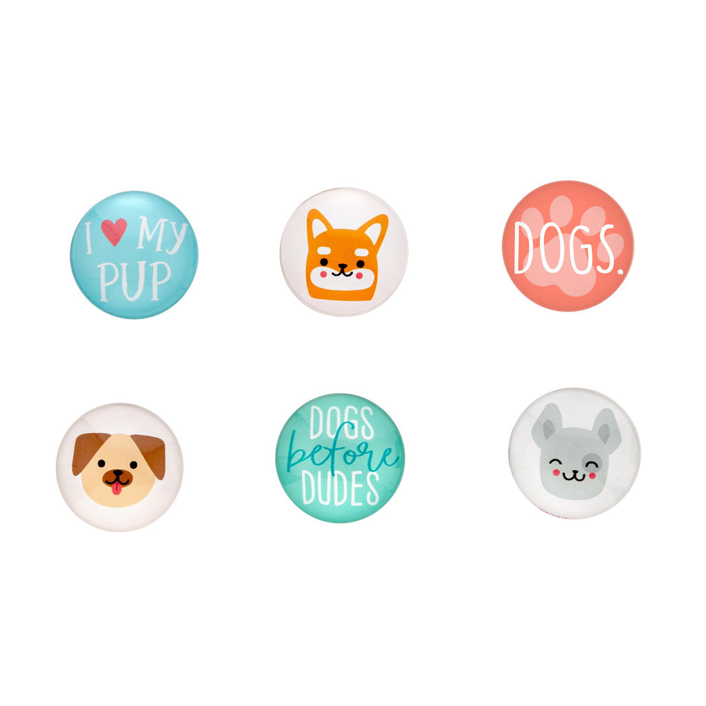 Pearhead's dog glass magnets