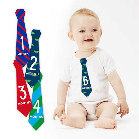 pearhead's baby's first year tie stickers