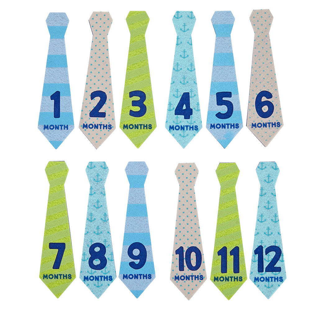 pearhead's first year felt tie stickers