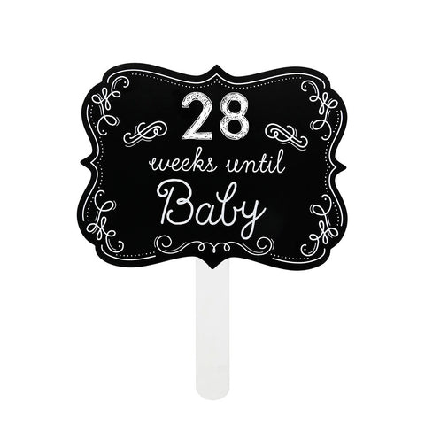weeks until baby chalkboard