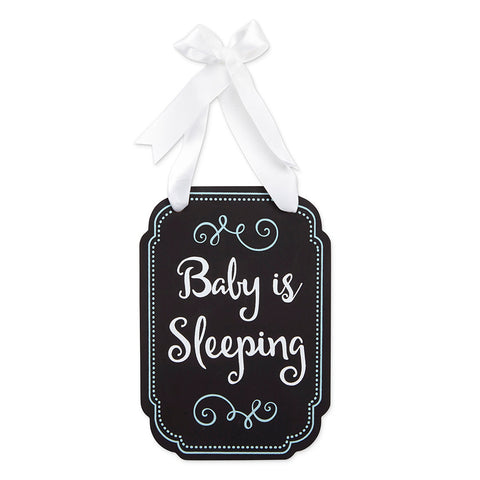 sleeping baby door hanger