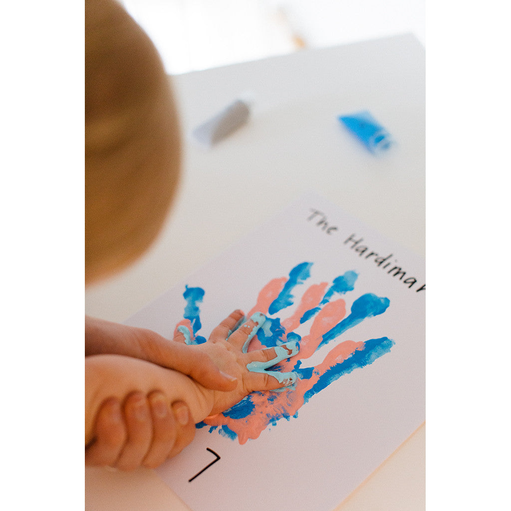 our family handprint frame – Pearhead