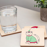 Pearhead's holiday cats coaster set