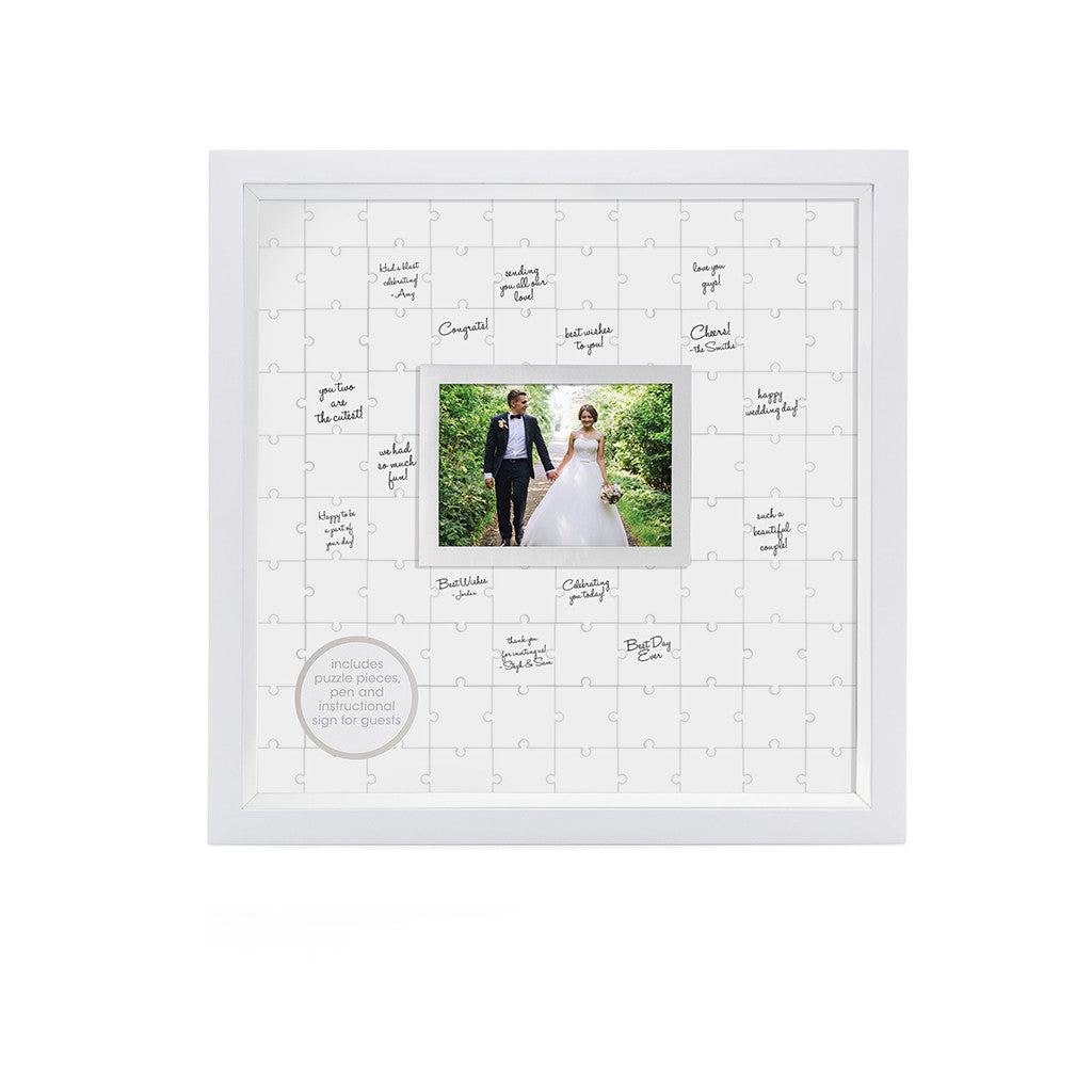 pearhead's guestbook puzzle frame