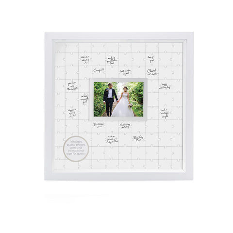 guestbook puzzle frame