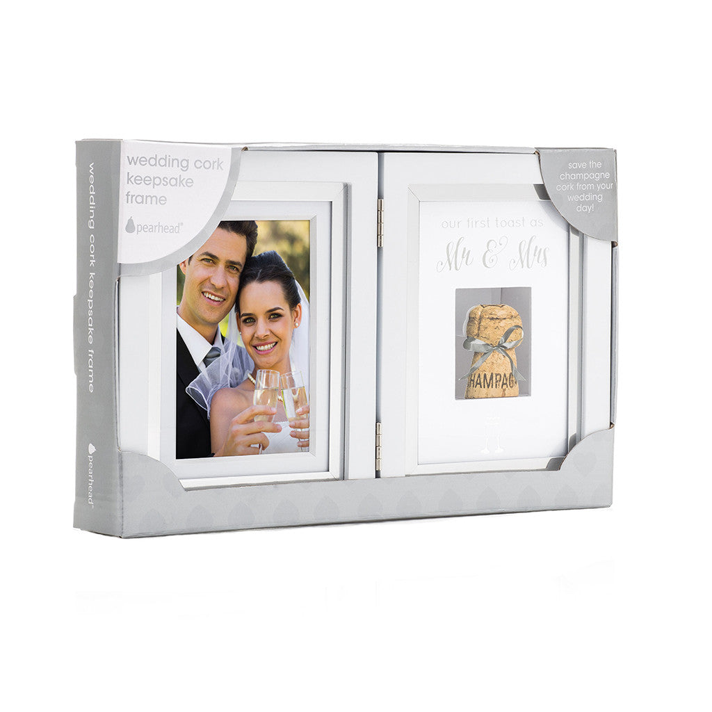Cork Wedding Memory: Wedding Cork Keepsake Frame