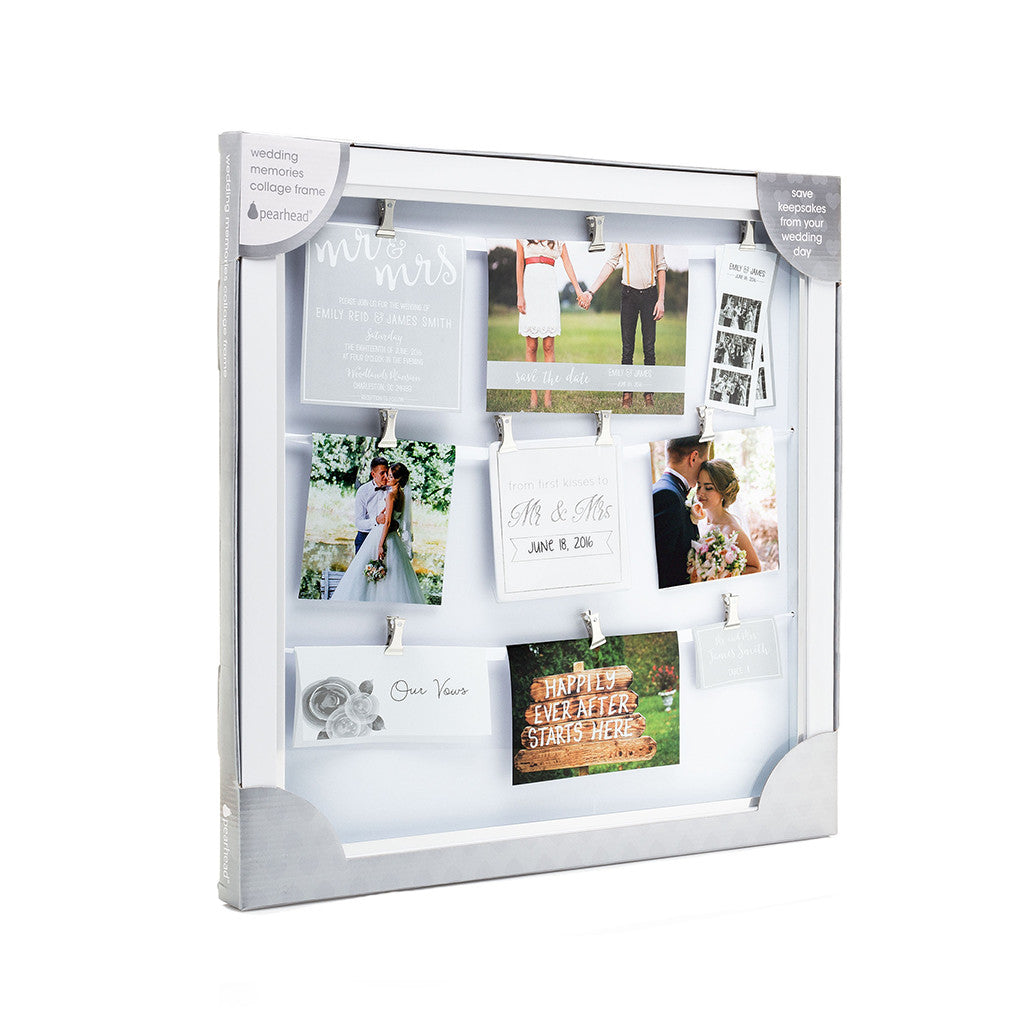 wedding memories collage frame – Pearhead