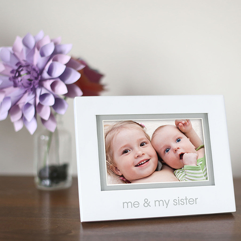 me & my sister sentiment frame – Pearhead