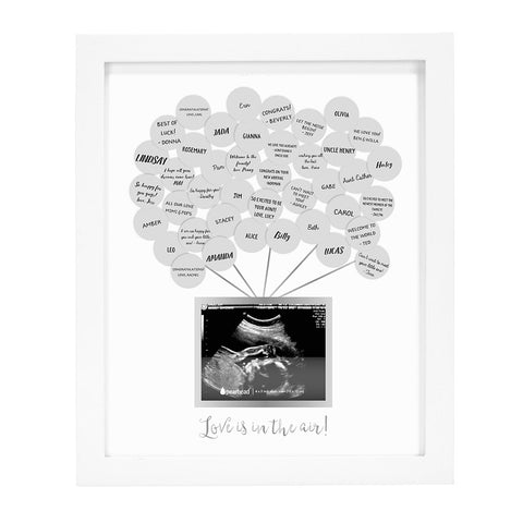 pearhead's baby shower guest frame