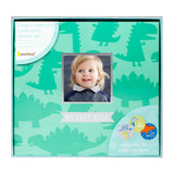 Pearhead's dino baby's memory book and sticker set