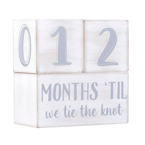 Pearhead's wedding countdown blocks