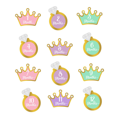 little princess belly stickers