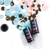 pearhead's gender reveal confetti poppers