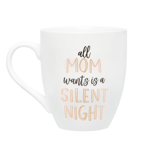 Pearhead's all mom wants is a silent night mug