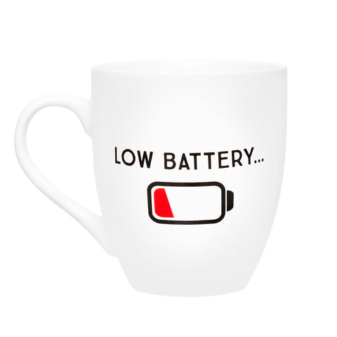 Pearhead's low battery + charged mug