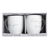 Pearhead's love you/love you more mug set