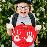 Pearhead's first day of school apple handprint sign