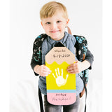 Pearhead's first day of school pencil handprint sign
