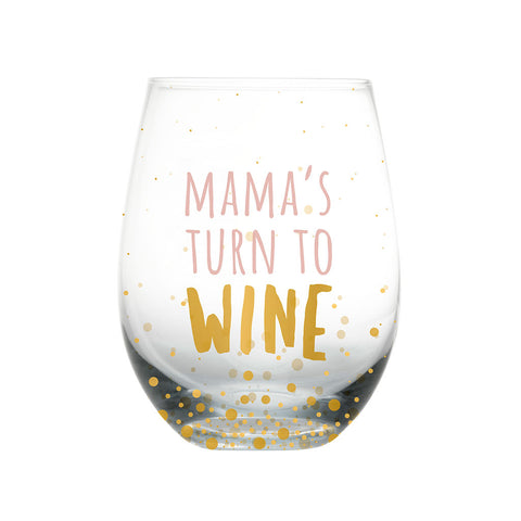 Pearhead's motherhood wine glass