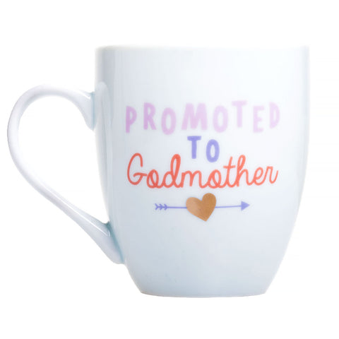 "Pearhead's ""Promoted to Godmother"" Mug"
