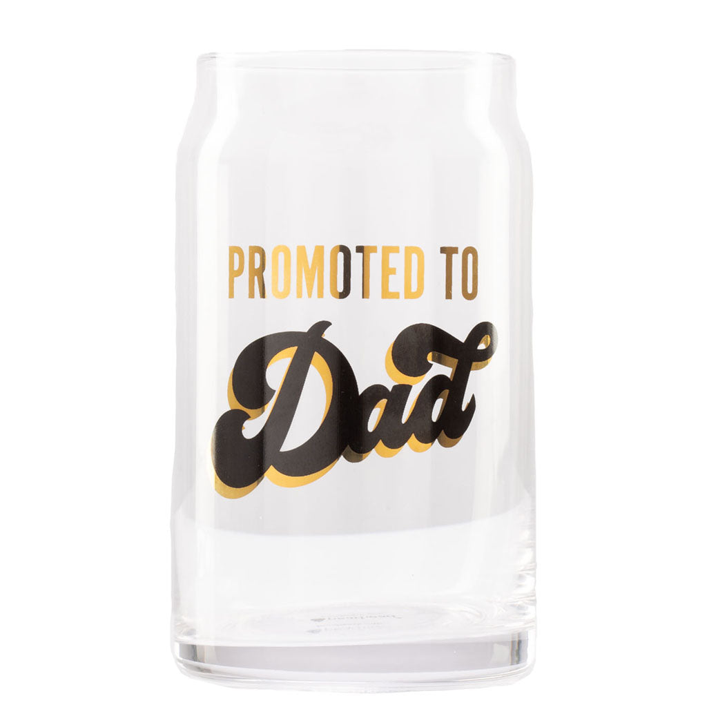 Pearhead's Promoted to Dad Beer Glass