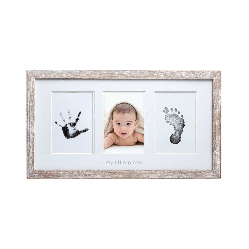 Pearhead's babyprints rustic frame