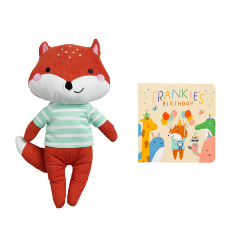 Pearhead's fox plush/book set