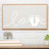 "Pearhead's ""Love"" framed print canvas"
