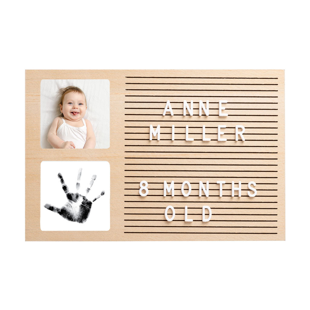 Pearhead's babyprints letterboard frame