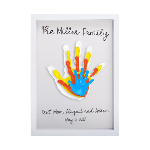 Pearhead's floating family handprint frame
