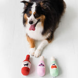 Pearhead's happy hour dog toy set