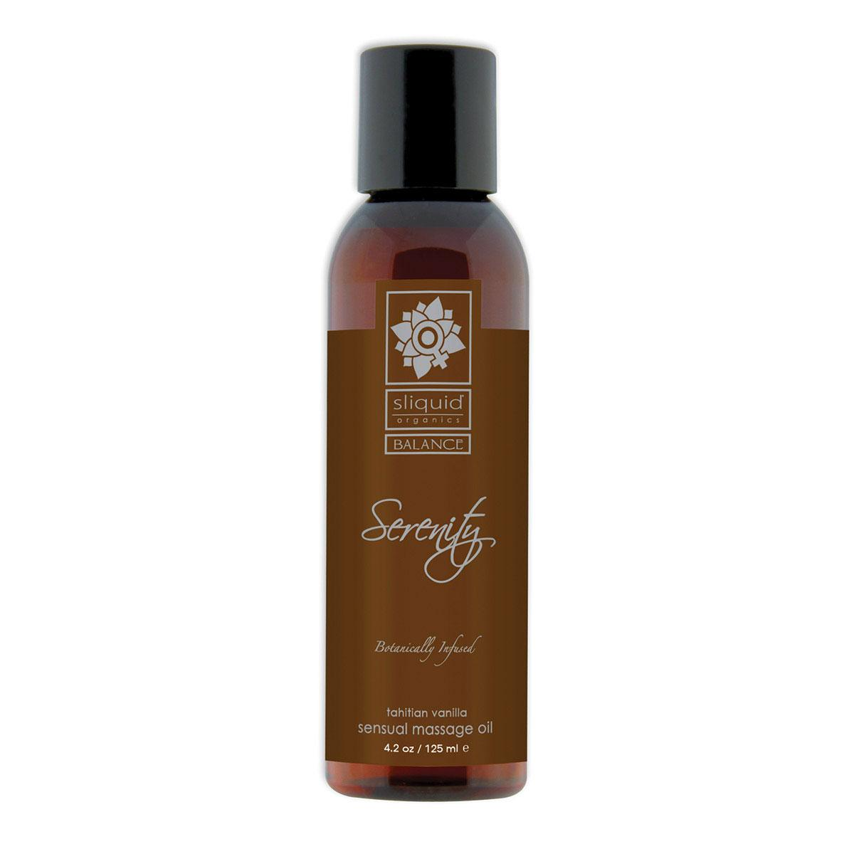 Sliquid Organics Massage Oil Serenity 4.2oz (was Seduction)